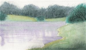 Water Paint Lake by Rose-Hunter