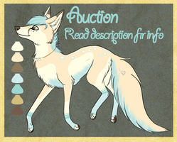 Seashell Fox Point Adoptable [SOLD] by OkamiWhitewings