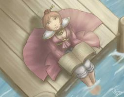 WoW - Random Mage at a Dock by bluphino