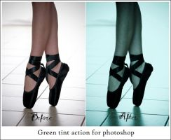 Green cyan tint actions by Eilicestock