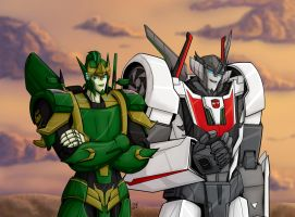 Wheeljack and Terradrift by Wrecker-lady