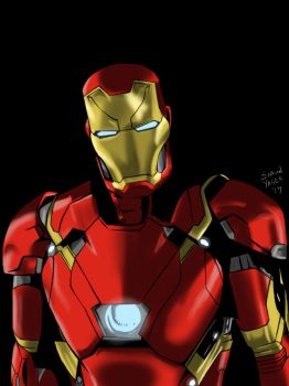 Ironman by shaunyagerart
