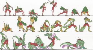 Bloody Roar_Busuzima_Chameleon_Transformation_2012 by AlexBaxtheDarkSide