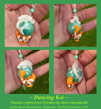 Dancing Koi - Necklace Commission for *Koiremains by Ganjamira
