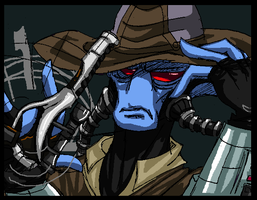 Bored Cad Bane by PurpleRAGE9205