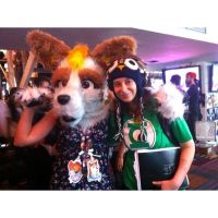 WIth the creator of my fursuit by blizyrockets