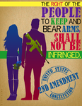 2nd Amendment = Gun Rights by ShekinahArt