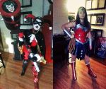 DCUO Harley and Wonder Woman by Ashillingburg
