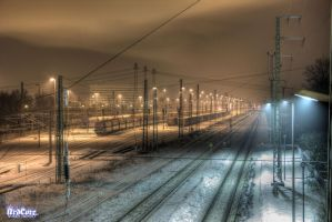 Winter at a train station2 by xDERANDYx