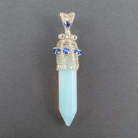 Sea Opal and Swarovski Crystal by sylva