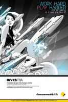Investra  poster design by ronaldesign
