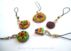 Tarts cell phone charms by TokiCrafts