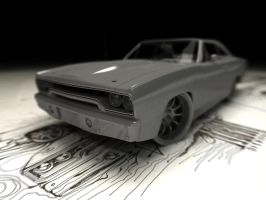 Plymouth RR 1970 in Plastic by nitrouzzz