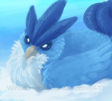 Speedpainting: Snow Bird by WindieDragon