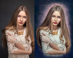Portrait of a girl by kirina66