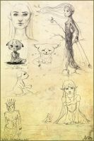 Sadness of Things - Sketchpage by AlexandraKnickel
