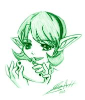 Green Pencil Saria by Red-Matter