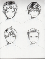Male Hairstyles practice 2 by ShenGoDo
