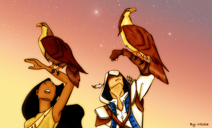 pocahontas and connor by NekoMisha