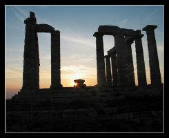 The Temple of Poseidon by BlackCarrionRose