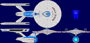 USS Enterprise Multi-View by captshade