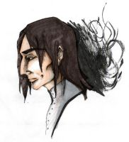 Severus Snape Profile- Coloured by Seraphim-burning