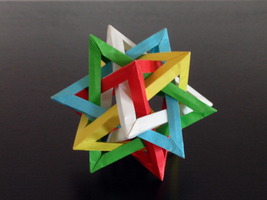 Five Intersecting Tetrahedra by Revenia