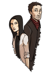 Elementary - holmes and watson by Cheshire-no-Neko