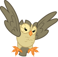 This owl has claws by porygon2z