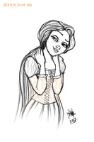 Too Cool Rapunzel by Wynta-Illustrations