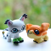 Gatomon and Patamon Littlest Pet Shop customs by pia-chu