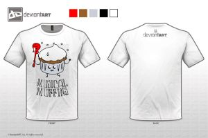 Musical Muffins T-Shirt Design by iDrawArtShop