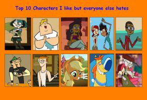 Characters I Like But Everyone Else Hates Meme 02 by HunterxColleen