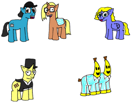 Just a few characters ponyfied by smega39