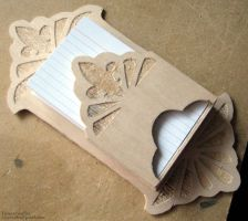 Index Card Holder Woodcraft by EuTytoAlba