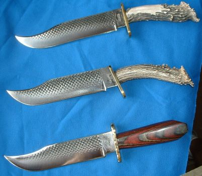 3 Horseshoe Rasp Knives by Logan-Pearce