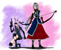 Touhou RPG Style: Gunner and Archer by Tres-Iques