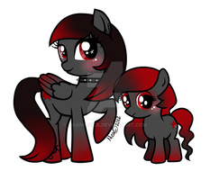 Punky Star and Punkette Star by mea0113
