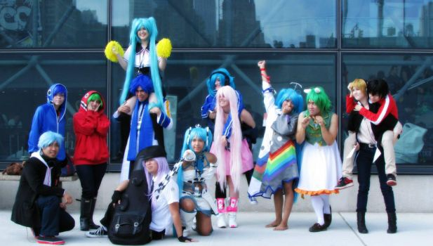 Vocaloid/ kagerou project group (NYCC 2013) by xBleedingheart15