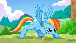 Rainbow Dash - Get Set 16:9 by mysticalpha