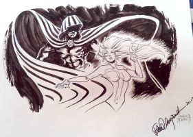 Cloak and Dagger - Comicon Sketch by elena-casagrande