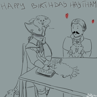 Happy Birthday Haytham by Clopina