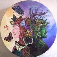God and Goddess Drum Complete by badgersoph