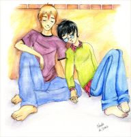 Ron and Harry - Catnap by kaedechan
