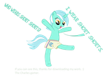 Lyra wears short shorts by Celrahk