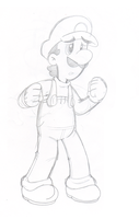 Just a Luigi sketch... by Nintendrawer