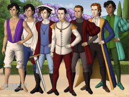 Disney Princes 1 Tudor Style by TFfan234