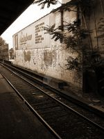 train tracks. by LateRainyNights