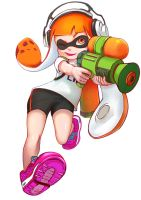Splatoon inkling girl by JKLiew92