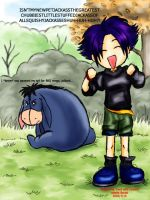 Me and Eeyore. Frightening. by Hey-Poo-Guy
